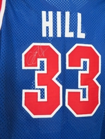Grant Hill autographed Detroit Pistons authentic original Champion stitched game model 1990s throwback jersey