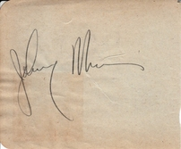 Hanley Stafford & Johnny Murray autographed autograph album or book page