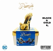 Harley Quinn DC Pumps black & gold Cryptozoic 2018 Wondercon EXCLUSIVE #/300 NEW IN BOX