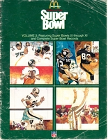 History of the Super Bowl Volumes 1 and 3 1977 McDonald's magazines