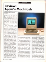 InfoWorld 1984 magazine with Apple Macintosh review (no subscription label)