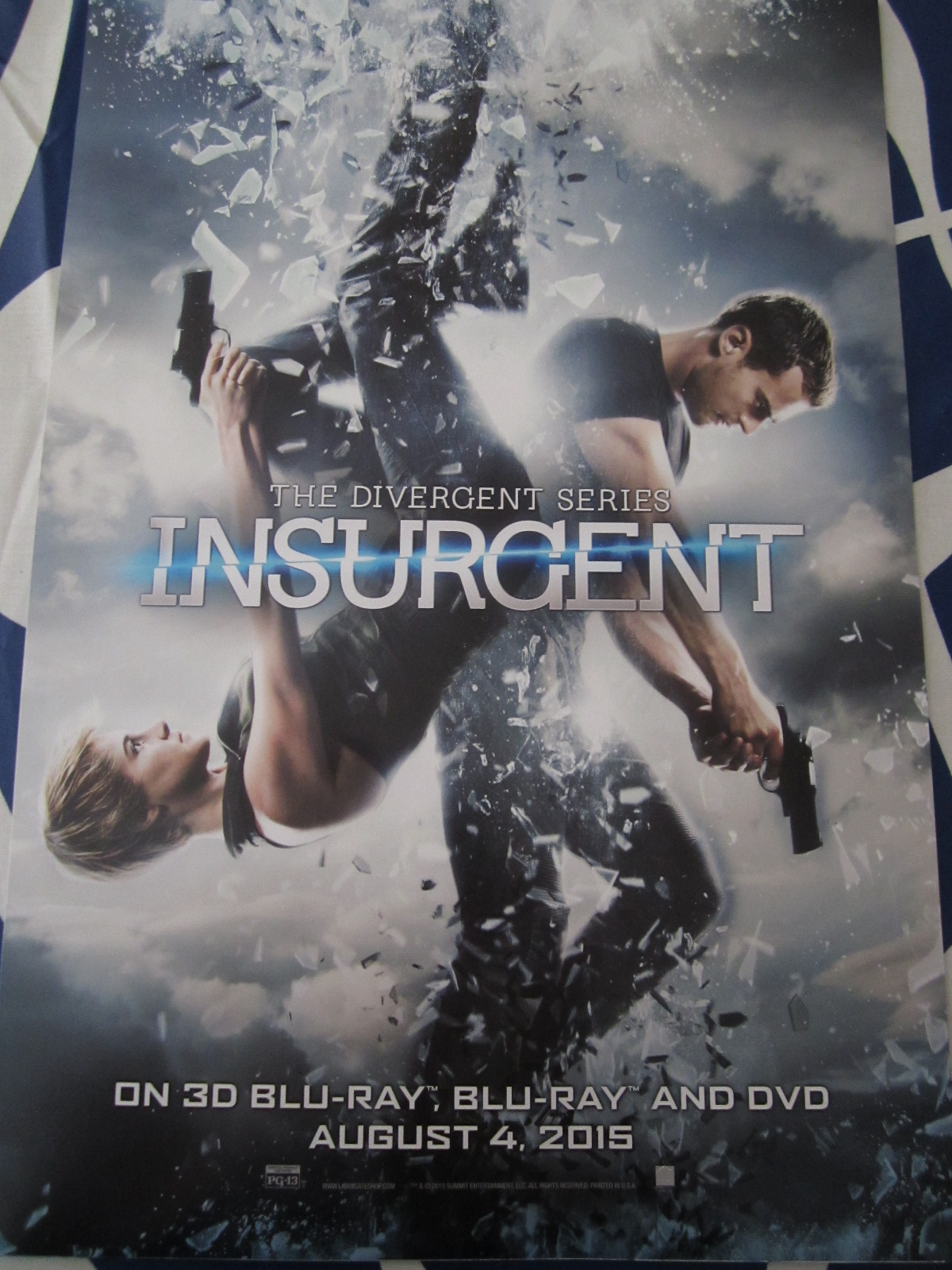 Insurgent Divergent 2015 Mini Movie Poster Theo James Shailene Woodley