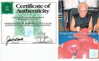 Jake LaMotta autographed Everlast boxing glove (Superstar Greetings)