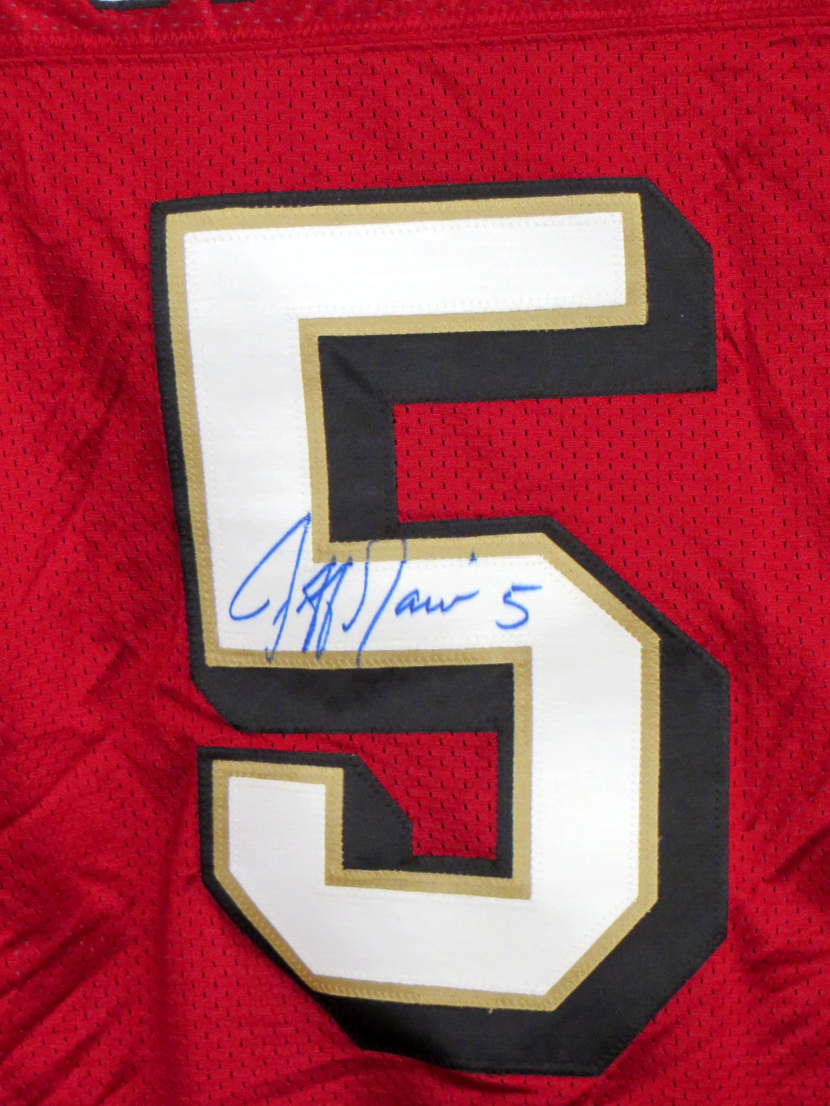 ... sweden jeff garcia autographed san francisco 49ers authentic reebok  game model jersey bc12b f6bb9 202a1501e