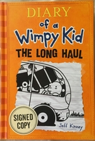 Jeff Kinney autographed Diary of a Wimpy Kid The Long Haul hardcover book
