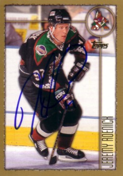 Jeremy Roenick autographed Phoenix Coyotes 1998-99 Topps card 19e82a037
