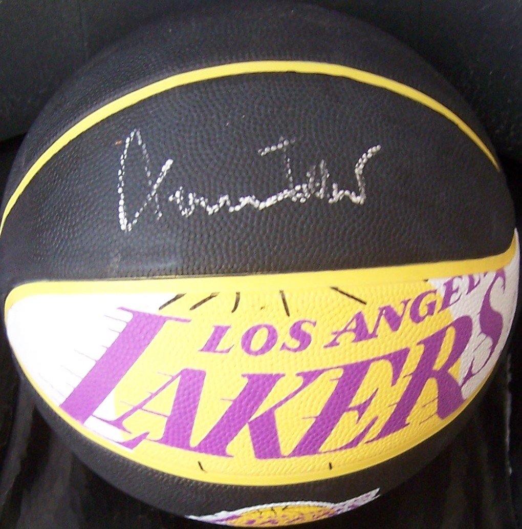 Jerry west autographed los angeles lakers logo basketball jerry west autographed los angeles lakers logo basketball voltagebd Images
