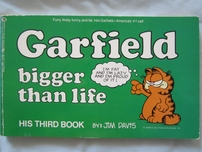 Jim Davis autographed Garfield Bigger Than Life softcover book