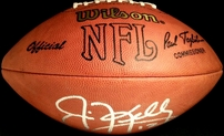 Jim Kelly autographed NFL game model football