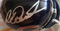 Jim McMahon & Richard Dent autographed Chicago Bears mini helmet