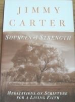 Jimmy Carter autographed Sources of Strength hardcover book