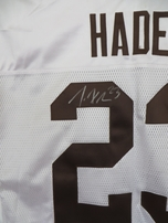 Joe Haden autographed Cleveland Browns authentic Reebok 2010 ROOKIE SEASON white game model jersey