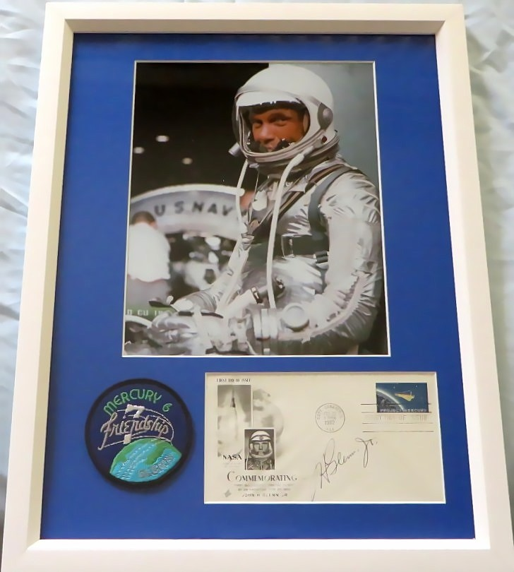 John Glenn Autographed 1962 Nasa Project Mercury First Day