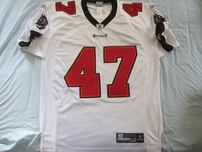 John Lynch Tampa Bay Buccaneers white Reebok authentic 2002 game model jersey NEW
