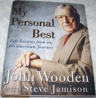 John Wooden autographed My Personal Best hardcover book