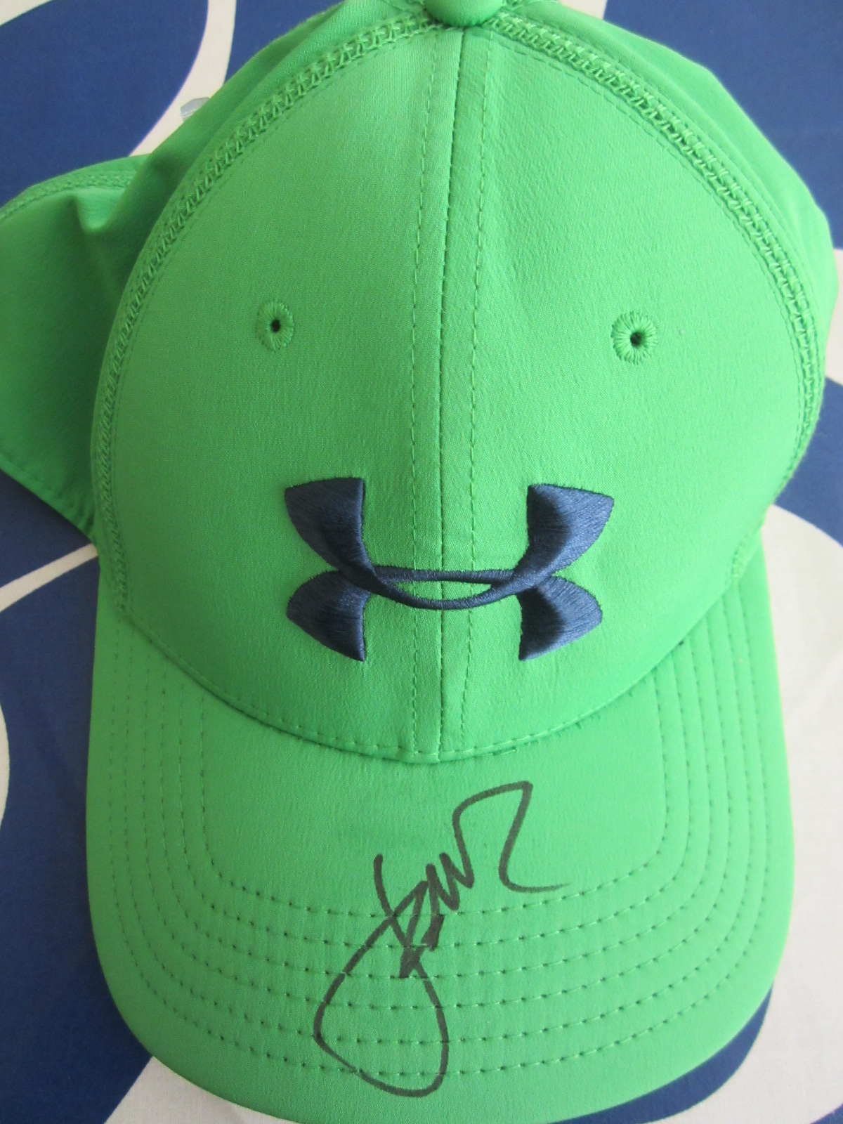 online store 62067 9ae0f ... new zealand jordan spieth autographed under armour green cap or hat  64f3b 00a88