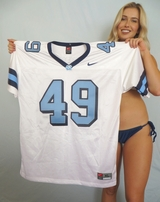Julius Peppers North Carolina authentic Nike stitched white throwback jersey