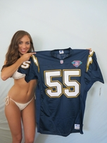 Junior Seau San Diego Chargers 1994 authentic Starter game model stitched blue jersey