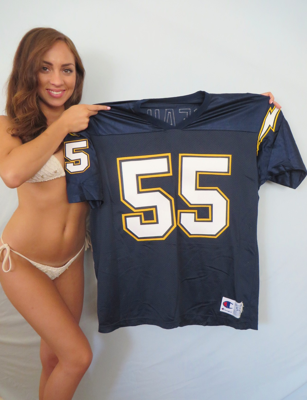 Junior Seau San Diego Chargers Authentic Champion 1990s