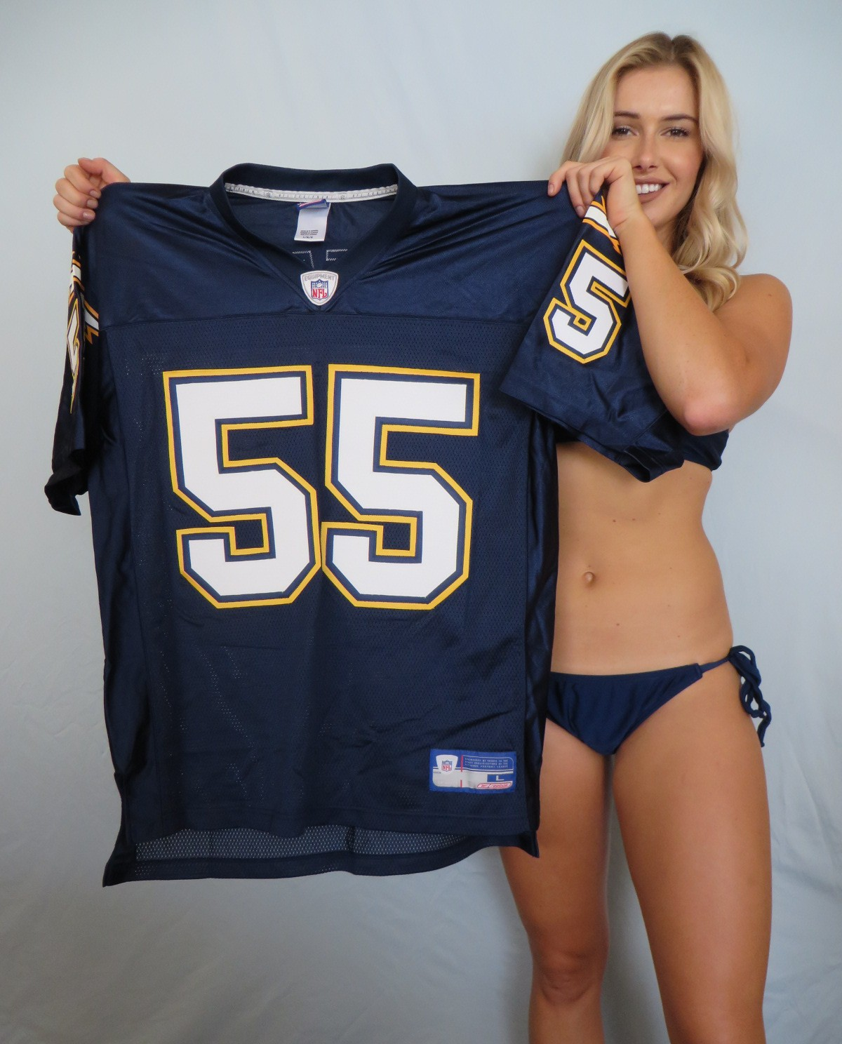 Junior Seau San Diego Chargers 2002 Authentic Reebok