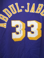 Kareem Abdul-Jabbar autographed Los Angeles Lakers 1979-80 Mitchell & Ness authentic throwback jersey