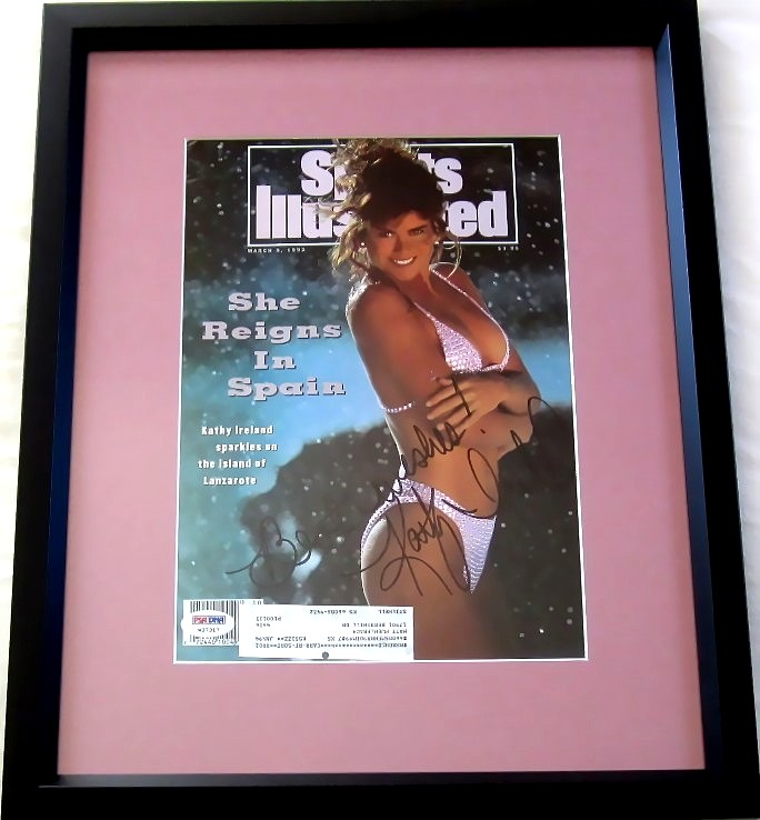 c3a20256e4236 Kathy Ireland autographed 1992 Sports Illustrated Swimsuit Issue cover  matted   framed (PSA DNA)