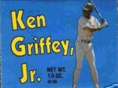 Ken Griffey Jr. Seattle Mariners 1989 rookie season chocolate bar wrapper set (2)