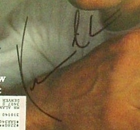 Kevin Costner autographed Rolling Stone magazine cover matted & framed