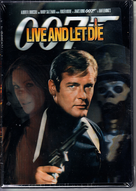 Live And Let Die James Bond 007 Dvd Digitally Restored With Rare Lenticular Cover New Amp Sealed