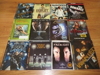 Lot of 26 different Blu-Ray or DVD movie slipcovers