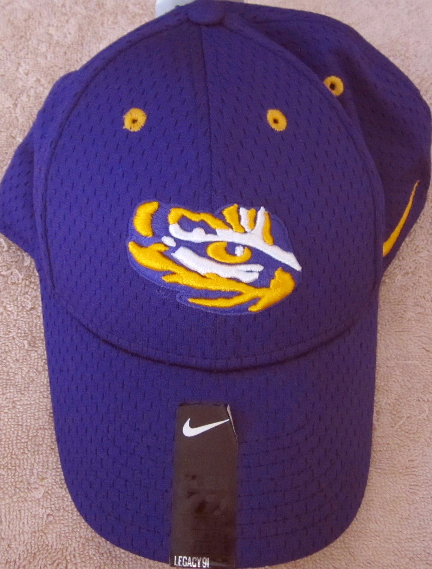 ... store lsu tigers purple nike dri fit cap or hat new with tags 5de82  1a7f8 527388fa628