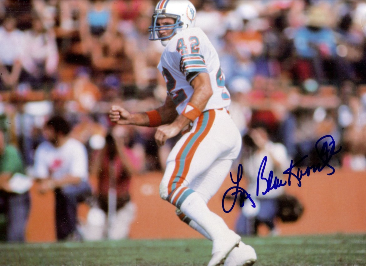 Lyle Blackwood Autographed 1984 Miami Dolphins 9x12 Inch