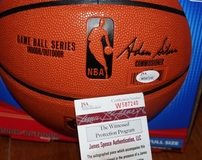 Magic Johnson autographed NBA indoor/outdoor basketball (JSA)