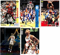 13 Los Angeles Clippers autographed 1990s cards (Mark Aguirre Mark Jackson Ken Norman Loy Vaught)
