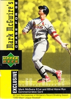 Mark McGwire Chase for 62 1998 Upper Deck 30 card set