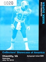 Mark Duper autographed Miami Dolphins 1984 Sports Illustrated (inscribed Super)