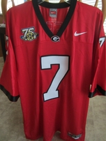 Matthew Stafford Georgia Bulldogs 2007 authentic Nike stitched red jersey NEW