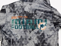 Miami Dolphins Reebok On Field sideline hooded jacket or hoodie BRAND NEW WITH TAGS