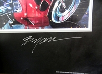 Michael Bryan autographed 1996 Olympics BMW promotional 27x40 inch poster
