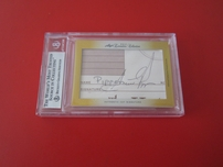 Michael Jordan & Scottie Pippen certified autograph 2014 Leaf Executive Collection Dual Cut Signature card #1/1