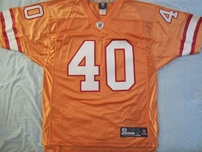 Mike Alstott Tampa Bay Buccaneers 1996 rookie orange authentic Reebok NFL Equipment stitched jersey NEW