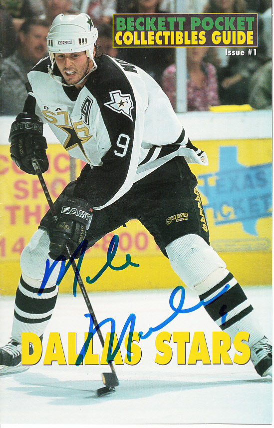 Mike Modano autographed Dallas Stars Beckett mini magazine c9c2cc94b0f