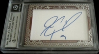 Mike Modano & Jeremy Roenick certified autograph 2012 Leaf Executive Masterpiece Dual Cut Signature card #1/1