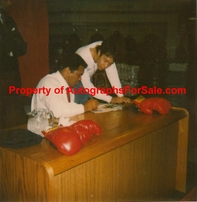 Muhammad Ali autographed cologne logo cap or hat dated & inscribed To Andrew