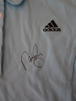Natalie Gulbis autographed Adidas personal model golf shirt