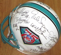 NFL 75th Anniversary Team autographed full size helmet (Lance Alworth Jim Brown Dick Butkus Joe Montana Jerry Rice Johnny Unitas)