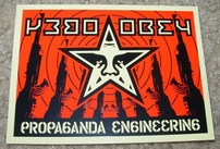 Obey Propaganda Engineering and Scale Tipping Services decal or sticker set by Shepard Fairey