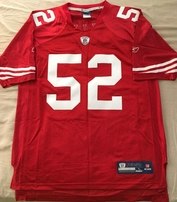 Patrick Willis San Francisco 49ers authentic Reebok NFL Equipment stitched red #52 jersey NEW