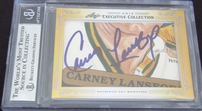 Rickey Henderson & Carney Lansford certified autograph 2013 Leaf Executive Masterpiece Dual Cut Signature card #1/1