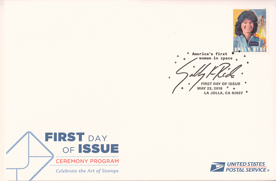 Sally Ride 2018 Forever Stamp First Day Cover With USPS Dedication